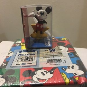 Vintage Mickey Mouse Antenna Topper and Album